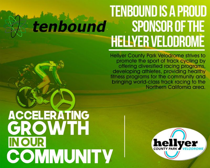 Tenbound is a proud sponsor of Hellyer Velodrome