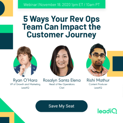 5 ways your Rev Ops Team impact the Customer Journey